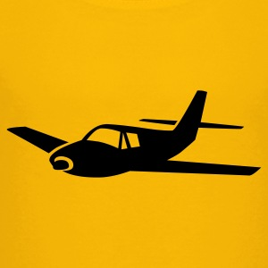 Yellow airplane Kids Shirts - Kids' Premium T-Shirt