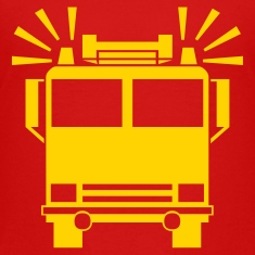 Red firetruck Toddler Shirts