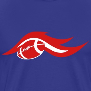 Royal blue american_football_on_fire T-Shirts (Short sleeve) - Men's Premium T-Shirt