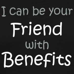 Black A friend with 'benefits' T-Shirts (Short sleeve) - Men's Premium T-Shirt