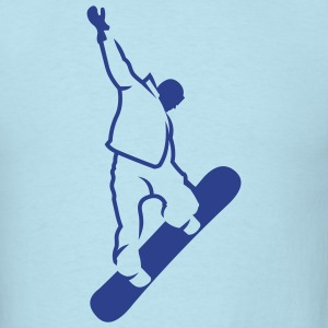 Sky blue snowboarder_newstyle T-Shirts (Short sleeve) - Men's T-Shirt