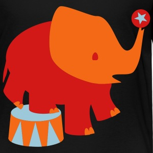 Black Baby Circus Elephant Toddler Shirts - Toddler Premium T-Shirt