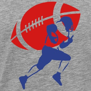 Ash  football_running_back_v2 T-Shirts (Short sleeve) - Men's Premium T-Shirt