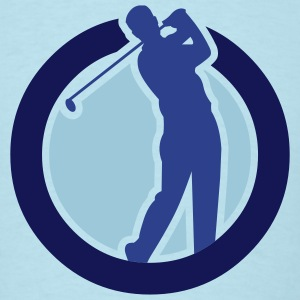 Sky blue golf_3c_golfer_in_circle_v2 T-Shirts (Short sleeve) - Men's T-Shirt