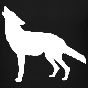 Black coyote howling Toddler Shirts - Toddler Premium T-Shirt
