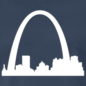 Navy St.Louis Skyline T-Shirts (Short sleeve) - Men's Premium T-Shirt