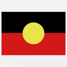 White Aborigine Flag - Australia T-Shirts (Short sleeve)