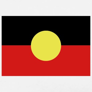 White Aborigine Flag - Australia T-Shirts (Short sleeve) - Men's Premium T-Shirt