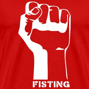 Red fisting porn T-Shirts (Short sleeve) - Men's Premium T-Shirt