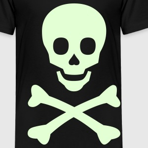 Glow in the Dark Halloween Skull - Toddler Premium T-Shirt