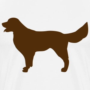 Natural Golden Retriver - Dog T-Shirts (Short sleeve) - Men's Premium T-Shirt