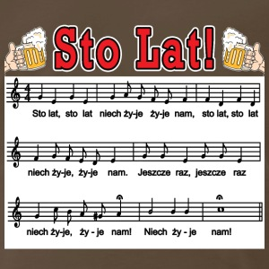 Sto Lat! With Beer Mugs - Men's Premium T-Shirt