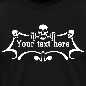 Black skullz_text option T-Shirts (Short sleeve) - Men's Premium T-Shirt