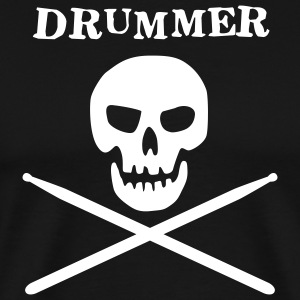 Black drummer skull T-Shirts (Short sleeve) - Men's Premium T-Shirt