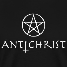Black antichrist T-Shirts (Short sleeve)