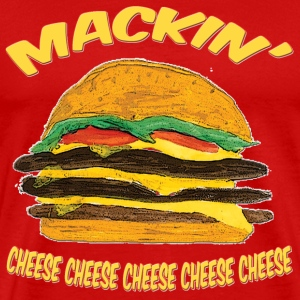 Red Hamburger mackin T-Shirts (Short sleeve) - Men's Premium T-Shirt
