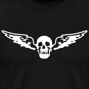 Black flying_skull_white T-Shirts (Short sleeve) - Men's Premium T-Shirt