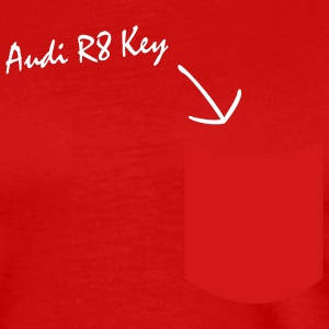 Audi R8 Key in pocket - Men's Premium T-Shirt