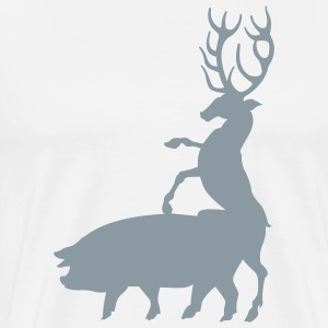 White pornstar_wildnature T-Shirts (Short sleeve) - Men's Premium T-Shirt