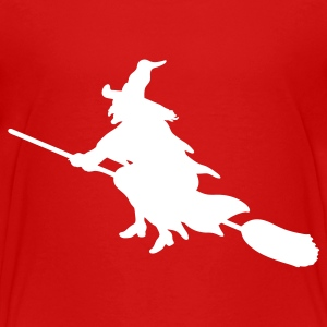 Red witch broom Toddler Shirts - Toddler Premium T-Shirt