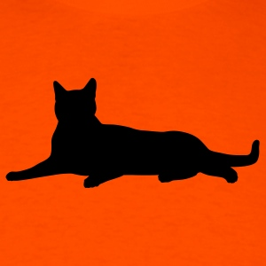 Orange cat laying T-Shirts (Short sleeve) - Men's T-Shirt