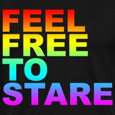 Black feel free to stare T-Shirts (Short sleeve)