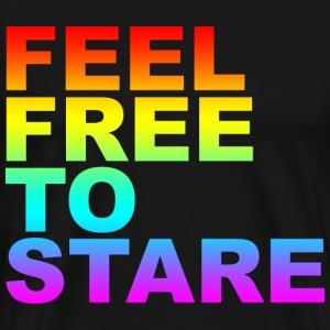 Black feel free to stare T-Shirts (Short sleeve) - Men's Premium T-Shirt