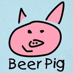 Sky blue Beer Pig T-Shirts - Men's T-Shirt
