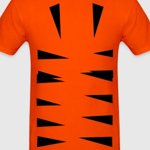 Orange tiger stripes bottom T-Shirts (Short sleeve) - Men's T-Shirt