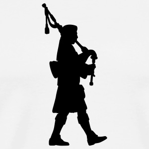 White bagpipes T-Shirts - Men's Premium T-Shirt