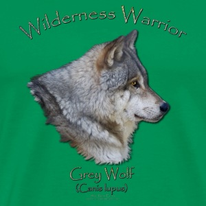 Wilderness Warrior Wolf  - Men's Premium T-Shirt