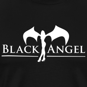 Black black_angel T-Shirts (Short sleeve) - Men's Premium T-Shirt