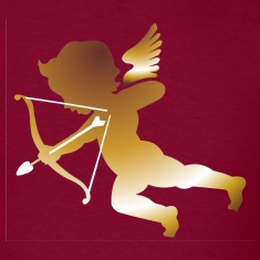 Burgundy Cupid 01 - (dark gold) T-Shirts (Short sleeve)