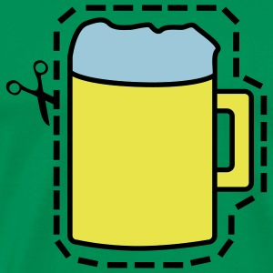 Bright green Cut Out Beer T-Shirts - Men's Premium T-Shirt