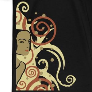 Black art nouveau woman T-Shirts (Short sleeve) - Men's Premium T-Shirt
