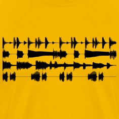 4 track waveforms - black small T-Shirts Yellow