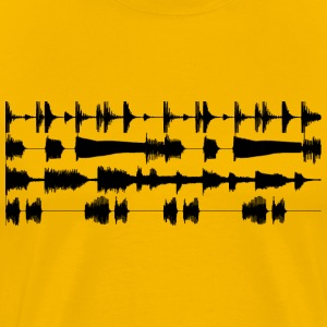 4 track waveforms - black small T-Shirts Yellow - Men's Premium T-Shirt