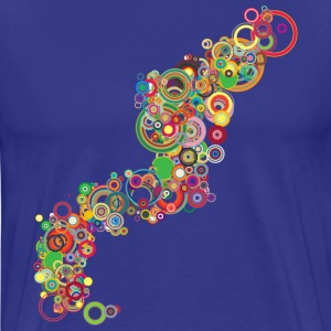 Royal blue Retro Colorful Circles Design T-Shirts - Men's Premium T-Shirt