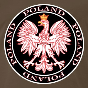 Round Poland Eagle Outlined In Red - Men's Premium T-Shirt
