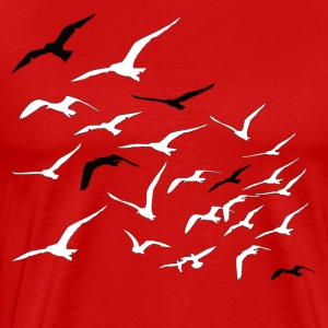 Birds Red - Men's Premium T-Shirt