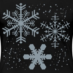 Black Winter SNOWFLAKES Design Plus Size