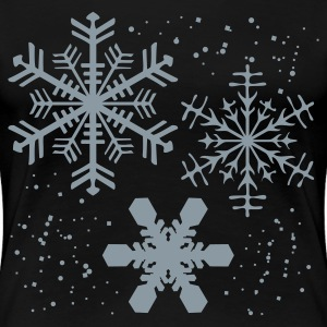 Black Winter SNOWFLAKES Design Plus Size - Women's Premium T-Shirt