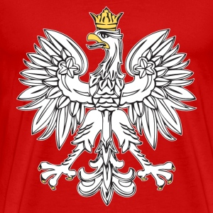 Polish Eagle With Gold Crown - Men's Premium T-Shirt