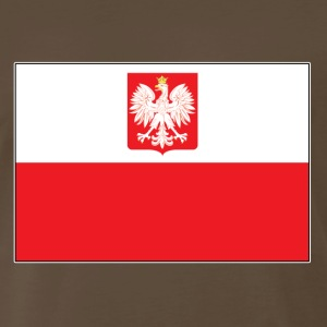 Polish Falcon Flag - Men's Premium T-Shirt