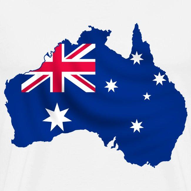 Australia Map And Flag.Australia Map And Flag Men S Premium T Shirt