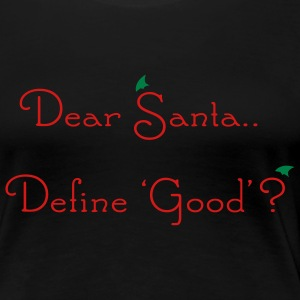 Black Dear Santa Plus Size - Women's Premium T-Shirt