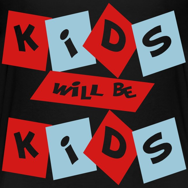 Kool Kids Tees 'Kids Will Be Kids' Toddler Tee in Black