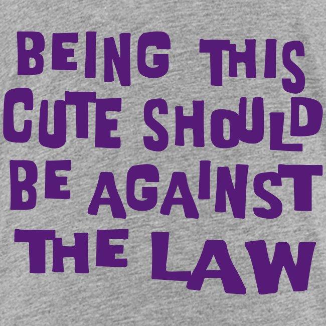 Kool Kids Tees 'Being This Cute, Against Law' Kids' Tee in Yellow
