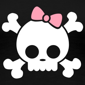 Cute Skull Girl [flex] - Women's Premium T-Shirt