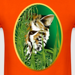 Cheetah Face in Oval Frame - Men's T-Shirt